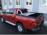 """Крышка Mountain Top на Toyota HiLux (Revo) """"TOP ROLL"""" цвет серебристый, с защитной дугой, изображение 2"""