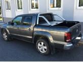 """Крышка Mountain Top для Volkswagen Amarok """"TOP ROLL"""", цвет серебристый c защитной дугой, изображение 4"""