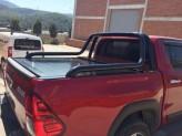 """Защитная дуга """"Canyon Black"""" для Toyota HiLuxв кузов 70 мм"""