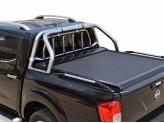 """Крышка TESSER на Nissan NP300 """"SOT-ROLL"""" с дугой 63 мм в комплекте с защитой заднего стекла"""