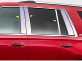 Хромированные накладки на дверные стойки Chevrolet Tahoe 2015 г.-