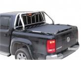"""Крышка на Volkswagen Amarok серия """"SOT-ROLL"""" с дугой 63 мм в комплекте с защитой заднего стекла"""