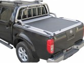 """Крышка для Nissan Navara D 40 серия """"SOT-ROLL"""" с дугой 63 мм в комплекте с защитой заднего стекла"""