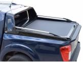 """Крышка TESSER для Nissan NP300-D23 серия """"SOT-ROLL"""" с защитной дугой со стоп-сигналом, и рейлингами"""