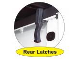 Крышка пикапа трехсекционная, алюминиевая, цвет черный (для Double Cab), изображение 5