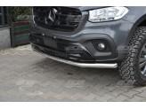 Защита переднего бампера для Mercedes-Benz X-Class, 60 мм полир. нерж. сталь