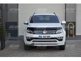 Защита переднего бампера для Volkswagen Amarok, 76/42 мм полир. нерж. сталь 2016 г.-