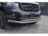 Защита переднего бампера для Mercedes-Benz X-Class, 76/42 мм полир. нерж. сталь