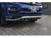 """Передняя защита """"STILO"""" для Volkswagen Amarok , 76/42 мм полир. нерж. сталь"""