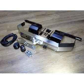 Фаркоп (оцинкованный, надпись Land Cruiser, шар F, провода, розетка)