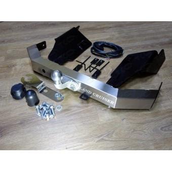Фаркоп для Landcruiser 200 (провода, розетка, декоративная заглушка, чехол для крюка, надпись Land Cruiser)