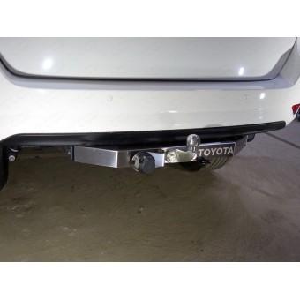 Фаркоп (оцинкованный, крюк F надпись Toyota, провода, розетка)