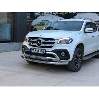 """Защита переднего бампера """"TetriPlus Chrome"""" для Mercedes-Benz X-Class (можно заказать в черном цвете)"""