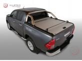 """Крышка Mountain Top на Toyota HiLux """"TOP ROLL"""" цвет серебристый, с защитной дугой"""