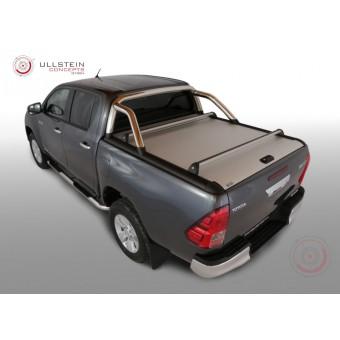 """Крышка Mountain Top на Toyota HiLux (Revo) """"TOP ROLL"""" цвет серебристый, с защитной дугой"""