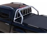 """Крышка для Mercedes-Benz X-Class серия """"SOT-ROLL"""" с защитной дугой 63 мм и рейлингами"""