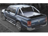"Крышка Mountain Top для Volkswagen Amarok ""TOP ROLL"", цвет только серебристый (под оригинальную дугу), изображение 3"