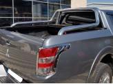 """Крышка для Mitsubishi L200 """"ROLL-ON"""" цвет черный с дугой CROO6 (электростатическая покраска), изображение 2"""