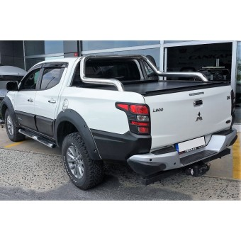 "Крышка для Mitsubishi L200 ""ROLL-ON"" цвет черный с дугой CROO6 (электростатическая покраска)"