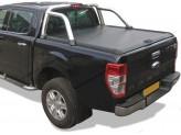 """Крышка Mountain Top для Ford Ranger T6 """"TOP ROLL"""", цвет черный c защитной дугой"""