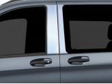 Хромированные накладки на дверные стойки Mercedes-Benz Vito 2016-2019 г.