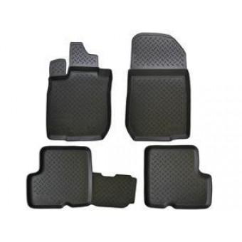 Комплект оригинальных ковриков в салон,цвет черный (полиуретан,фото может не соответствовать оригинальной форме конфигурации пола)