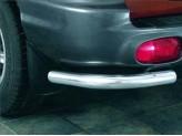Защита заднего бампера для Hyundai Santa-Fe, нерж. сталь для модели до 2005 г.