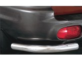 Угловая защита заднего бампера для Hyundai Santa-Fe , полир. нерж. сталь