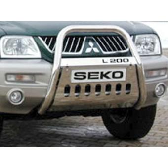 Передняя защита для Mitsubishi L200, полир.нерж сталь 76 мм (продается только с 310200)