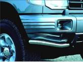 Угловая защита переднего бампера для Mitsubishi Pajero V20, полир. нерж. сталь
