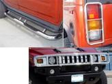 Передняя защита для Hummer H2 полир. нерж. сталь