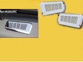Вентиляционные решетки из 2 частей (авиационный алюминий с тройным хромовым покрытием), изображение 2