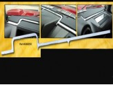 """Хромированная накладка для Hummer H2 """"торпеду"""" из 8 частей"""