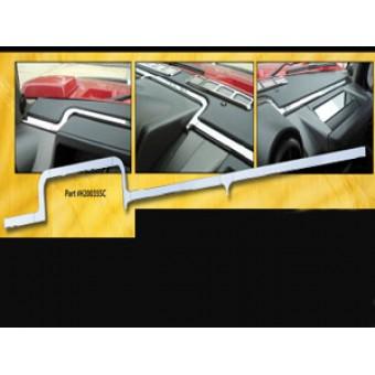 """Хромированная накладка для Hummer H2 """"торпеду"""" из 8 частей (авиационный алюминий с тройным хромовым покрытием, устанавливаются на 3М клей)"""