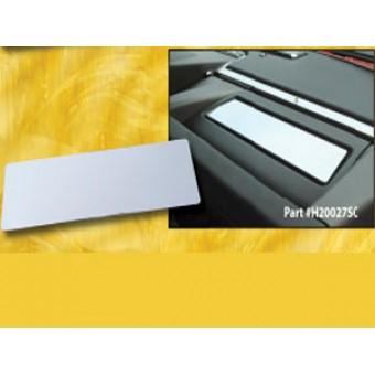"""Хромированная накладка для Hummer H2 на """"торпеду"""" (авиационный алюминий с тройным хромовым покрытием, устанавливаются на 3М клей)"""