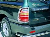 Защита задних фонарей для Toyota Landcruiser J100 GX, полир. нерж. сталь