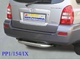 Защита заднего бампера для Hyundai Terracan нерж. сталь 76 мм
