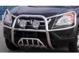 Передняя защита с защитой фар полир. нерж. сталь