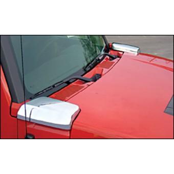 Хромированные накладки для Hummer H3 на воздуховоды (комплект из 2-х частей)