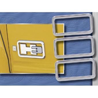 Хромированные накладки из 3-х частей (авиационный алюминий с тройным хромовым покрытием)