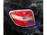 Хромированные накладки на задние фонари Mercedes-Benz M-class W164