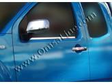 Хромированные накладки на дверные ручки Nissan Navara D 40 без отверстий под ключ