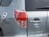 Хромированные накладки на задние фонари Toyota RAV4