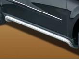 Пороги для Mercedes-Benz GL, полир. нерж. сталь 60 мм