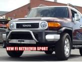 Передняя зашита для Toyota FJ CRUISER полир. нерж. сталь с площадкой для крепления лебедки