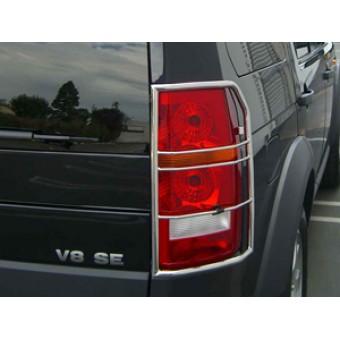 Защита задних фонарей для Land Rover Discovery-3 (полир. нерж. сталь)