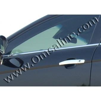 Хромированные накладки на дверные ручки Chevrolet Captiva (нерж. сталь)