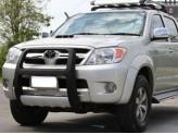 Передняя защита пластик ABS с белой метал.вставкой