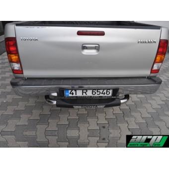 Задняя подножка для Toyota HiLux с логотипом,полир. нерж. сталь