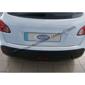 Хромированная накладка для Nissan Qashqai на задний бампер полир. нерж. сталь